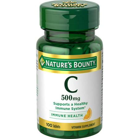 Nature's Bounty Vitamin C, 500 Mg Tablets, 100 (Best C Vitamins)