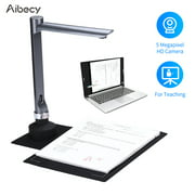 Aibecy F60A USB Document Camera Scanner A4 Capture Size with LED Light for School Teacher Classroom Online Course