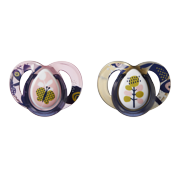 Tommee Tippee Closer to Nature Moda Pacifiers, 6-18mo - 2pk (Colors & Designs Vary)