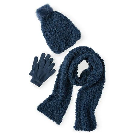 Girls' 3-Piece Hat, Glove and Scarf Fashion - 3 Piece Set Hat Scarf