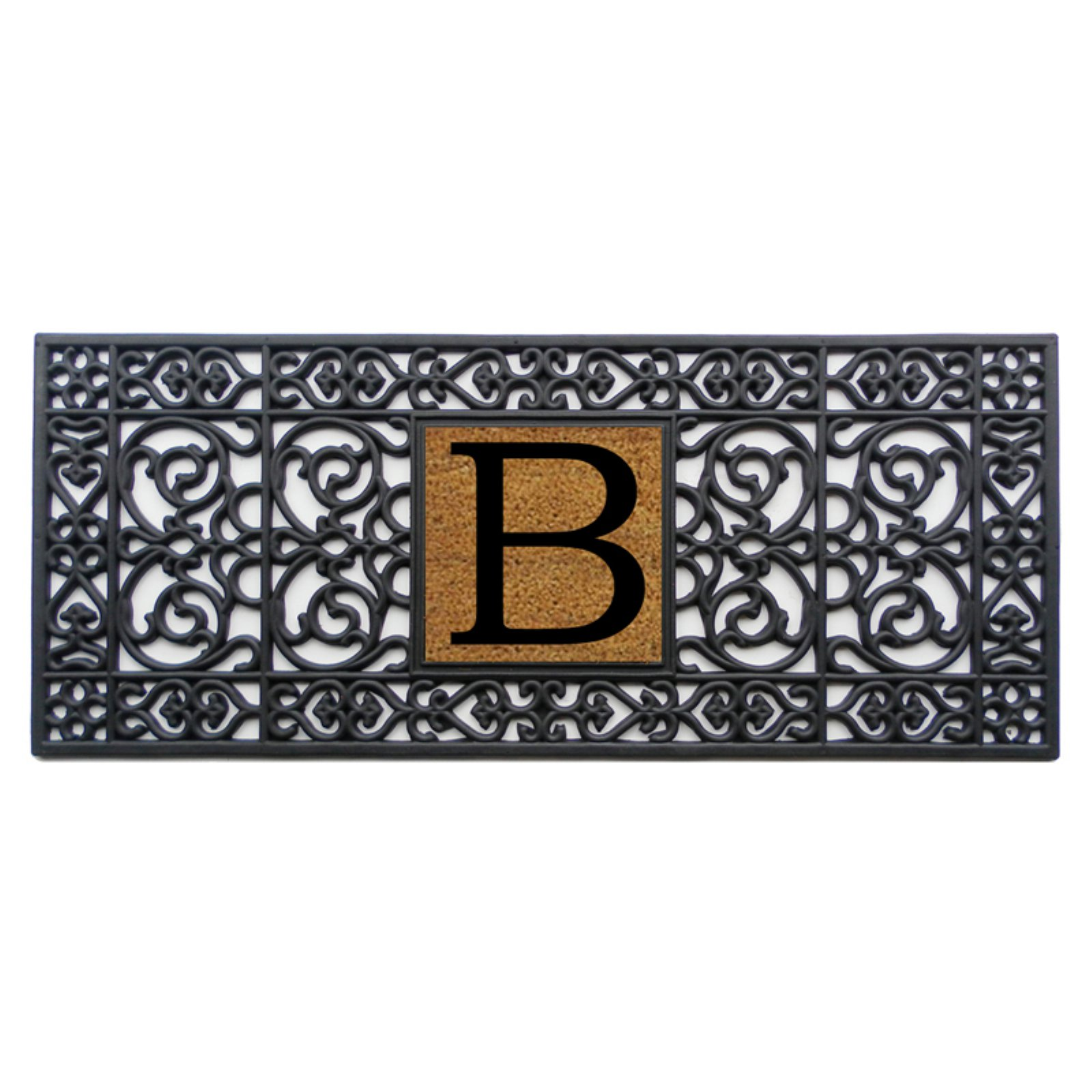Home and More 17 x 41 Monogrammed Doormat by Home and More Inc