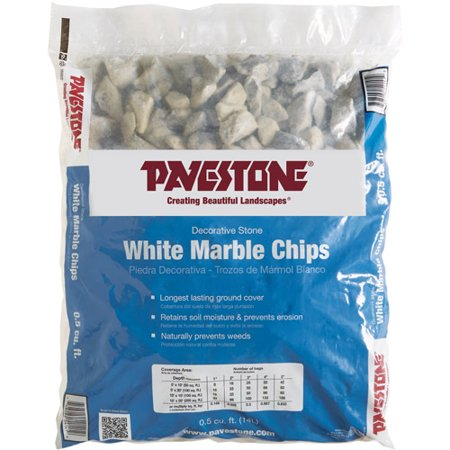 Pavestone 5 Cu Ft White Marble Chips Walmart Com