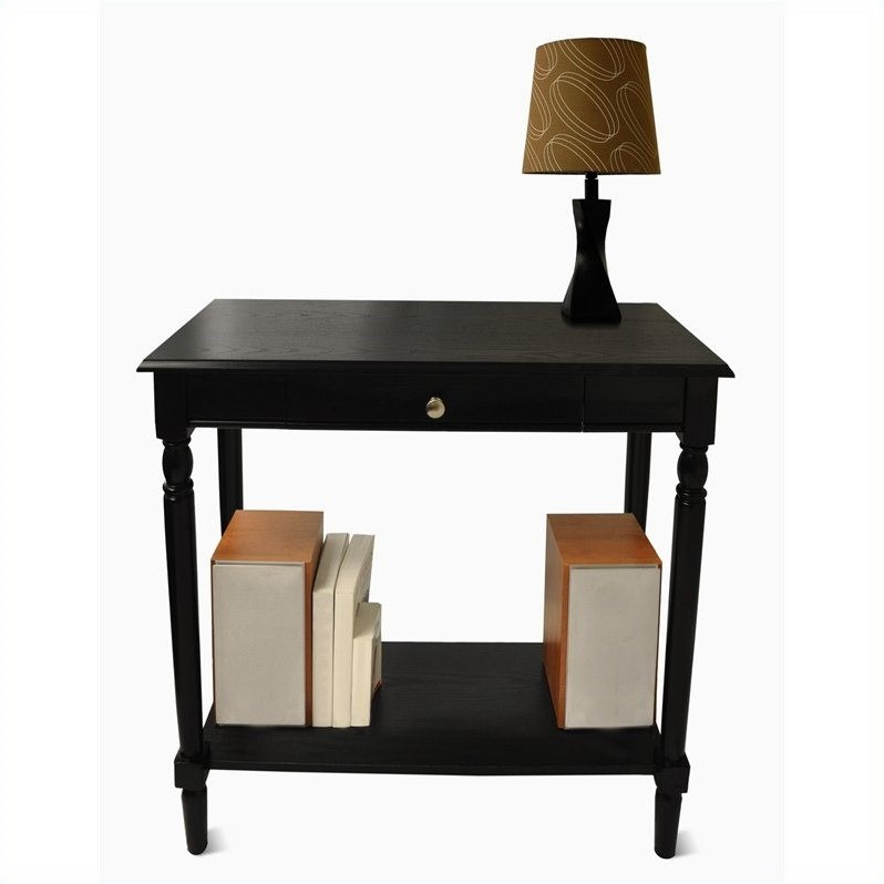 Convenience Concepts French Country Hall Table Black - Convenience concepts french country coffee table