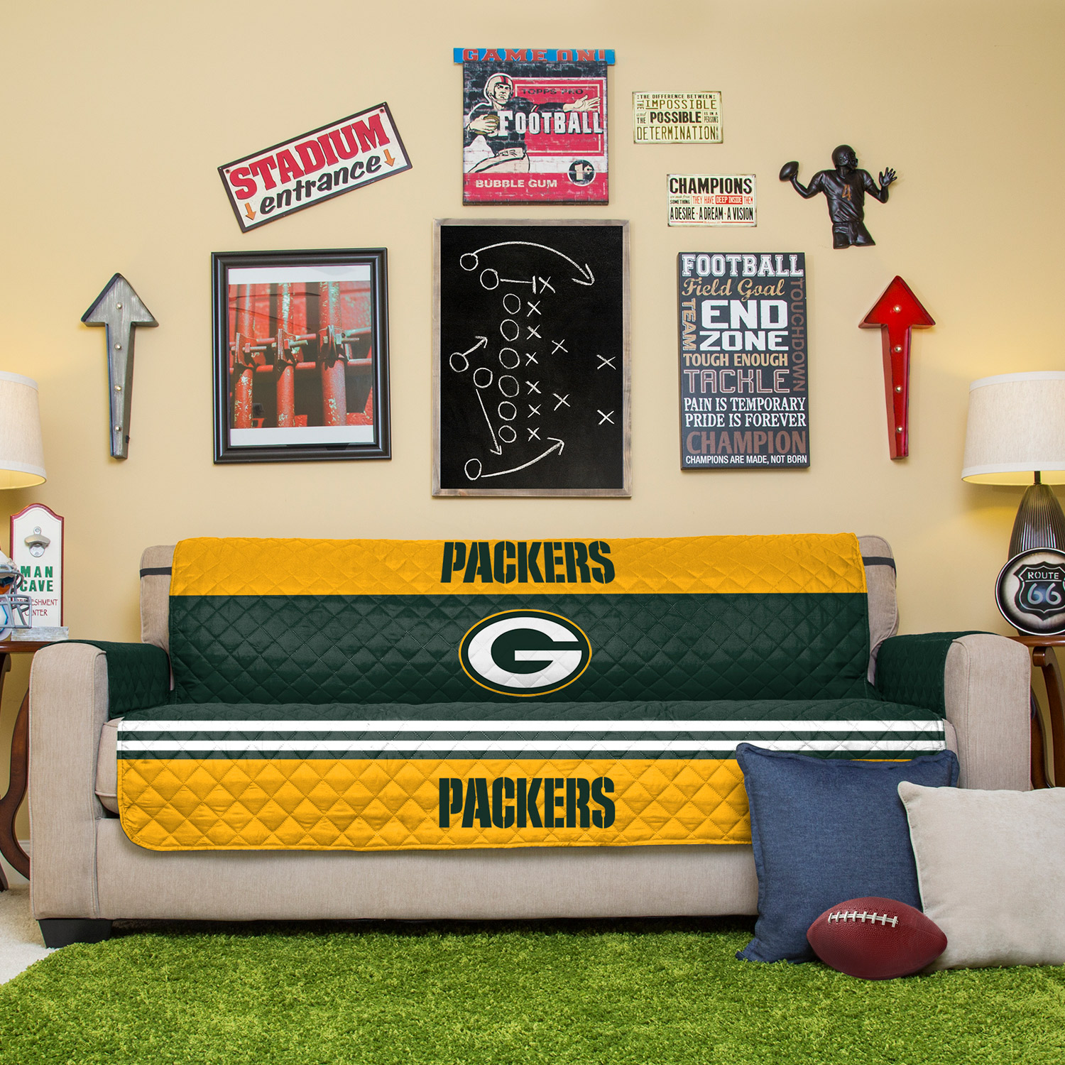 Dfw Furniture Pittsburgh: Green Bay Packers Sofa Protector