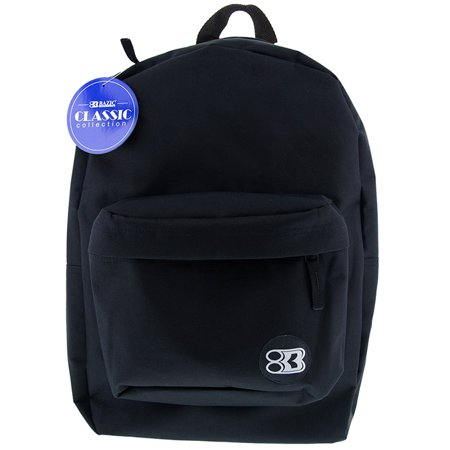 New 402528   17 Inch Black Classic Backpack (12-Pack) Office Supply Cheap Wholesale Discount Bulk Stationery Office Supply River Stones - Backpacks Cheap Bulk