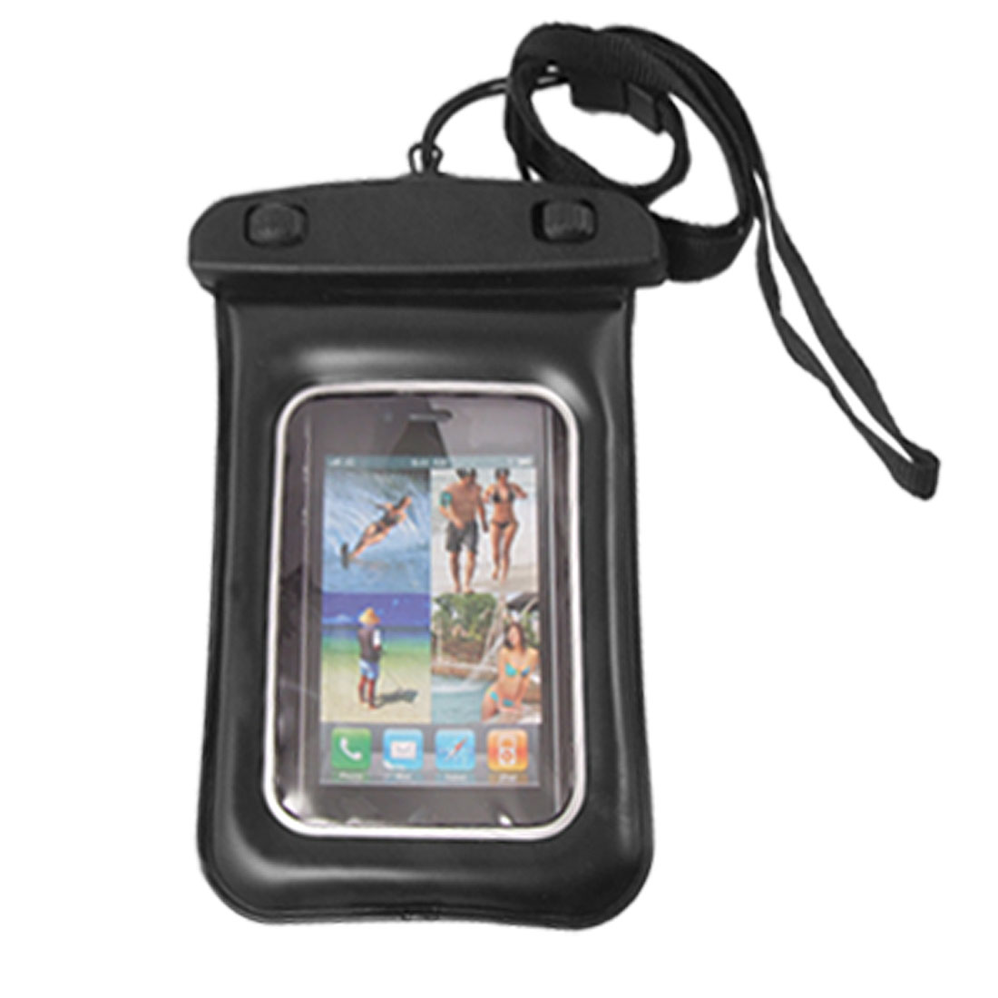 Waterproof Pouch Bag Cover Neck Strap Case for iPhone 4 3G 3GS