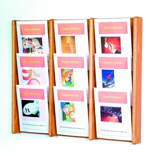 Wooden Mallet AC26-9 Nine Pocket Wall Display