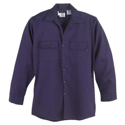 Workrite Fr Flame Resistant Collared Shirt, Navy, UltraSoft(R), XL, 231UT70NB