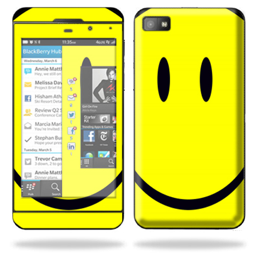Mightyskins Protective Skin Decal Cover for BlackBerry Z10 Cell Phone wrap sticker skins Smiley Faces