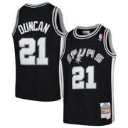 Tim Duncan San Antonio Spurs Mitchell & Ness Youth Swingman Throwback Jersey - Black