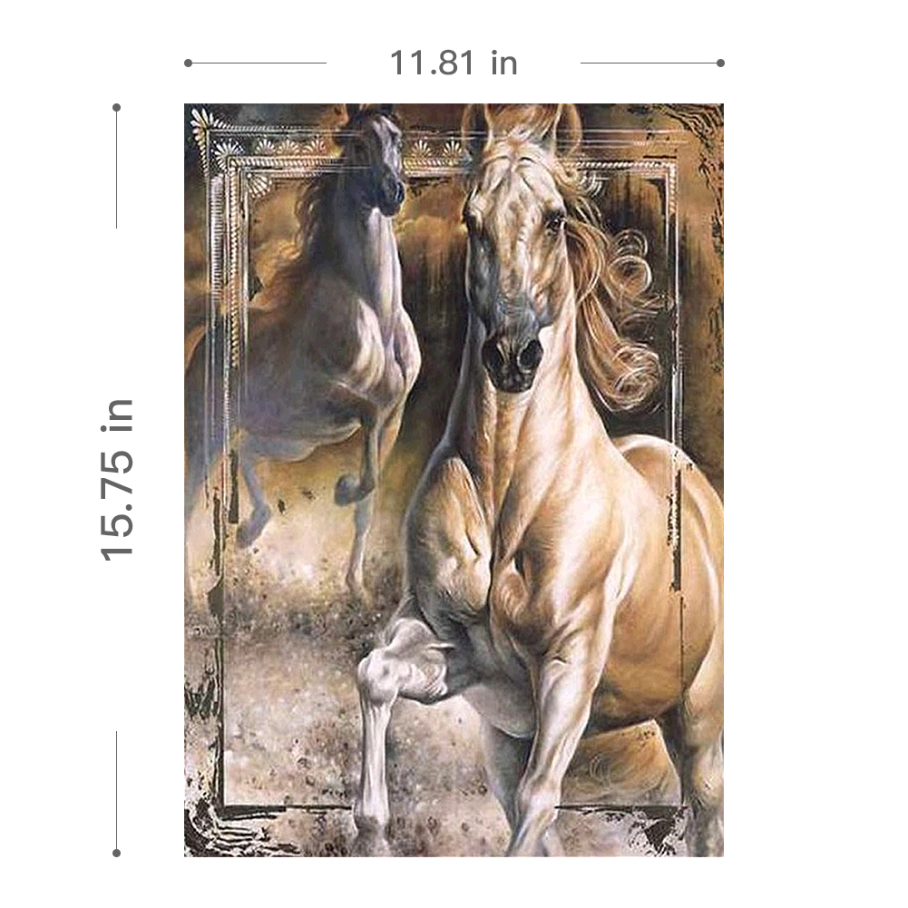 5D DIY Full Drill Diamond Painting Embroidery Cross Stitch Kits Art Horse Decors