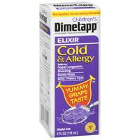 Pfizer Dimetapp Children's Cold & Allergy Nasal Decongestant, Antihistamine, 4 oz