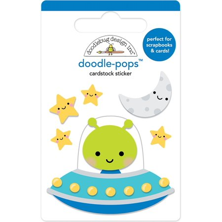 Doodlebug Doodle-Pops 3D Stickers-Out Of This World Doodlebug Design Cardstock Stickers