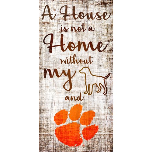Fan Creations NCAA Team 'House is Not a Home Sign' Textual Art on Wood