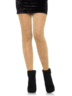 2233159ec16 Free shipping. Product Image Leg Avenue Women s Lurex Sparkly Shiny Glitter  Footed Tights