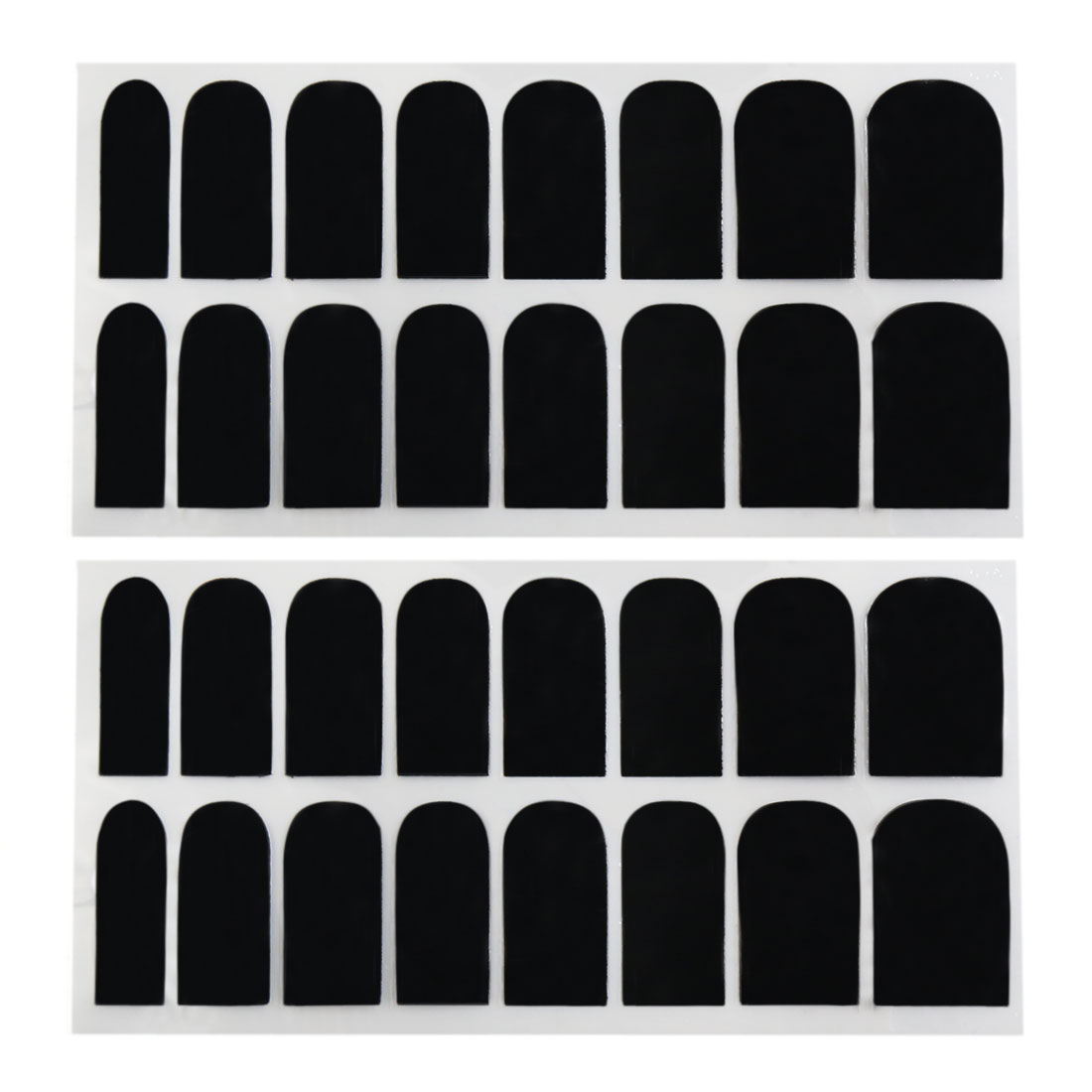 2 Sets Black Full Nail Art Sticker Manicure Decals Foil Wraps Nails Polish Strip