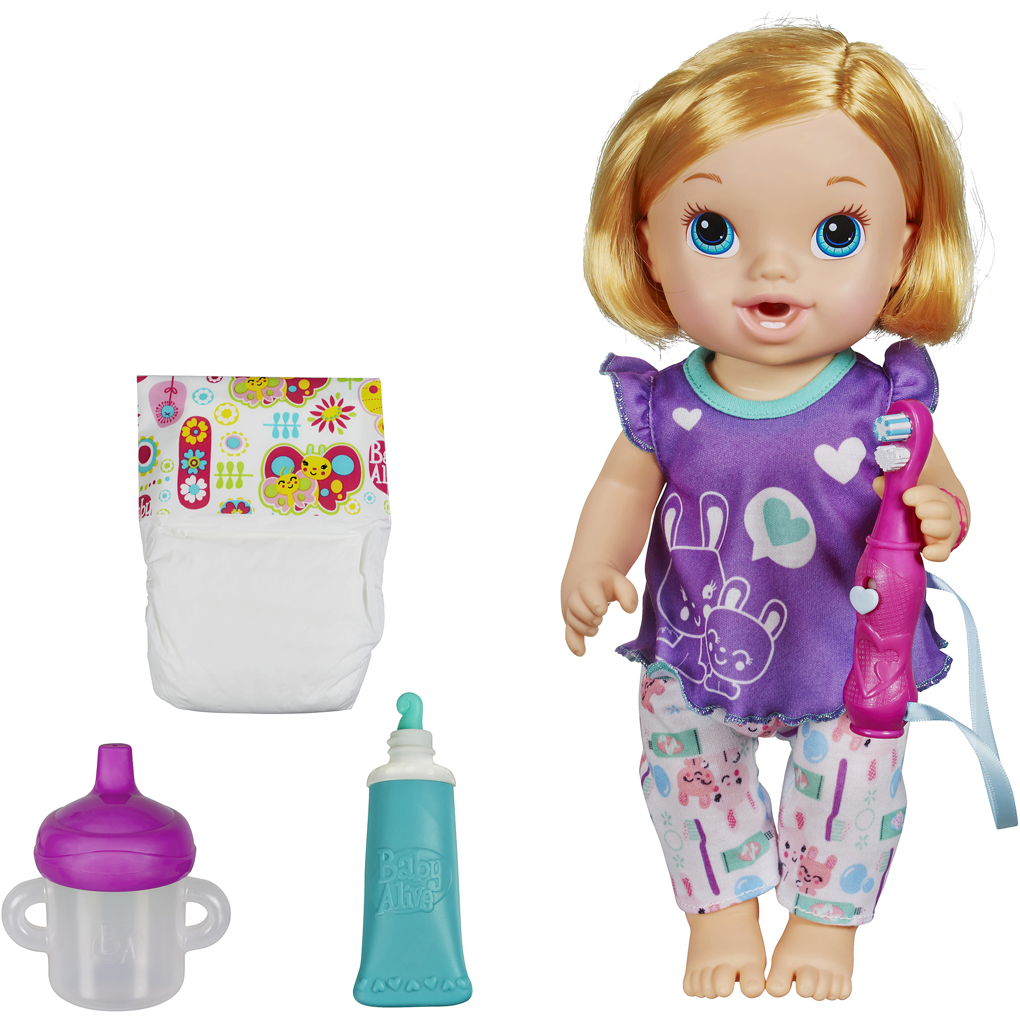 Baby Alive Brushy Brushy Baby Doll - Blonde Hair