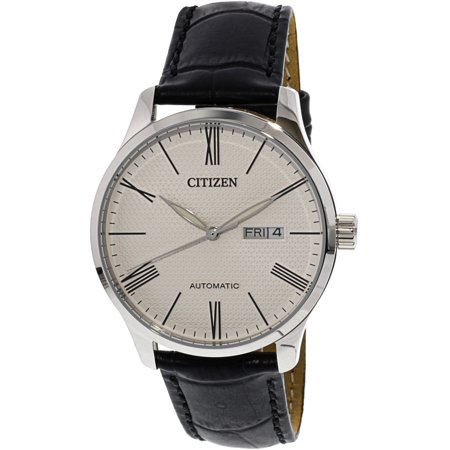 Citizen Men's NH8350-08A Silver Leather Automatic Fashion Watch ()