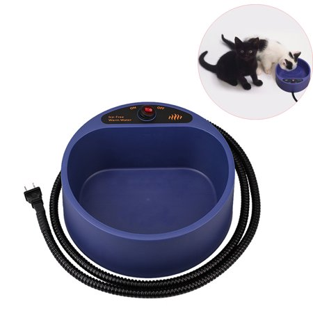 - Heated Pet Bowl, Thermal Bowl Perfect for Outdoor Pet Water Feeding with 2.2L/78oz Water Bowl, Blue
