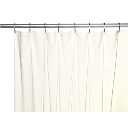 Royal Bath Extra Long 5 Gauge Vinyl Shower Curtain Liner With Metal Grommets In Bone Size 72 Wide X 78