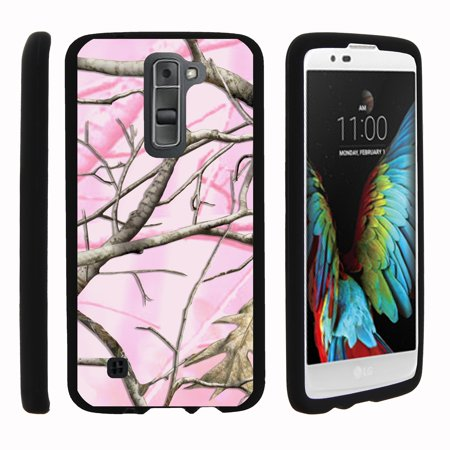 LG K7, LG Treasure, LG Tribute 5, [SNAP SHELL][Matte Black] Snap On Hard Plastic Protector with Non Slip Coating with Unique Designs - Pink Hunter - Black Treasure