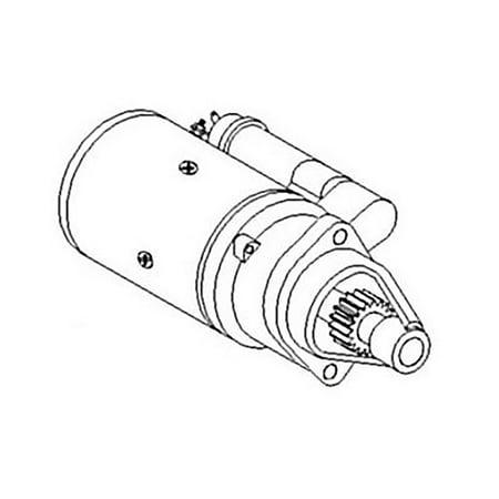 RE41875-A New Bosch Starter made to fit John Deere 6600