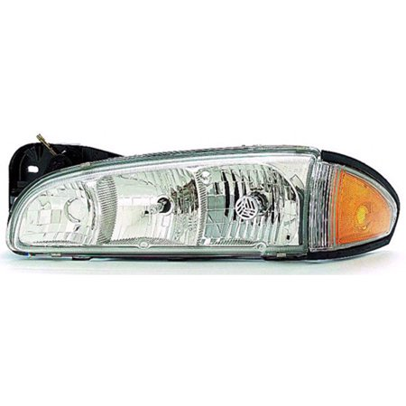 Pontiac Bonneville Headlight Lh Driver - 1996-1999 Pontiac Bonneville  Driver Side Left Head Lamp Combo Assembly 16524193