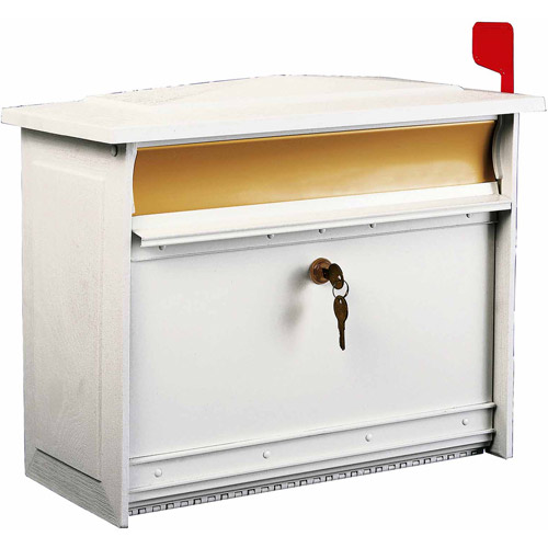 Solar Group Inc MSK0000W Extra-Large White Mailsafe Lockable Security Mailbox