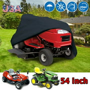 """Universal Riding Lawn Mower Cover,IClover Waterproof Riding Mower Cover Heavy Duty Mildew Resistant UV Protection Tractor Covers Drawstring Universal Fits Decks up to 54"""" & Storage Bag"""