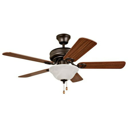 "Mainstays 42"" Dual Mount Ceiling Fan with Light Kit, French Bronze"
