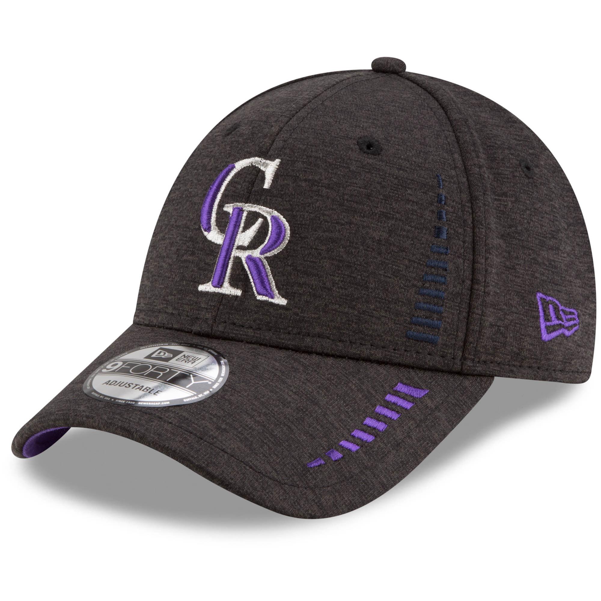 Colorado Rockies New Era Speed Shadow Tech 9FORTY Adjustable Hat - Black - OSFA