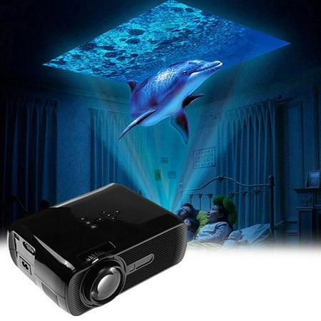 Multimedia Smartphone - Mini LED Projector HD 1080P 1500 LM Home Theater Video Projector Home Multimedia Cinema TV Laptops Smartphones BL-80 Black On Sale