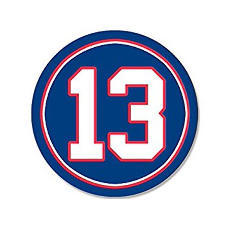 Round #13 Odell Beckham Jr Giants Colors Sticker Decal (ny new york number 13) Size: 4 x 4