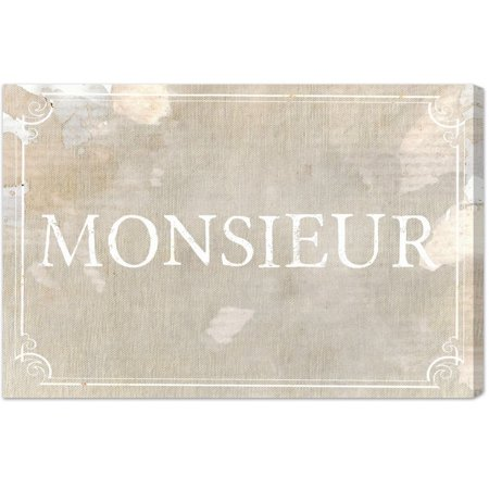 Oliver Gal Blakely Home 'Monsieur' Canvas Art