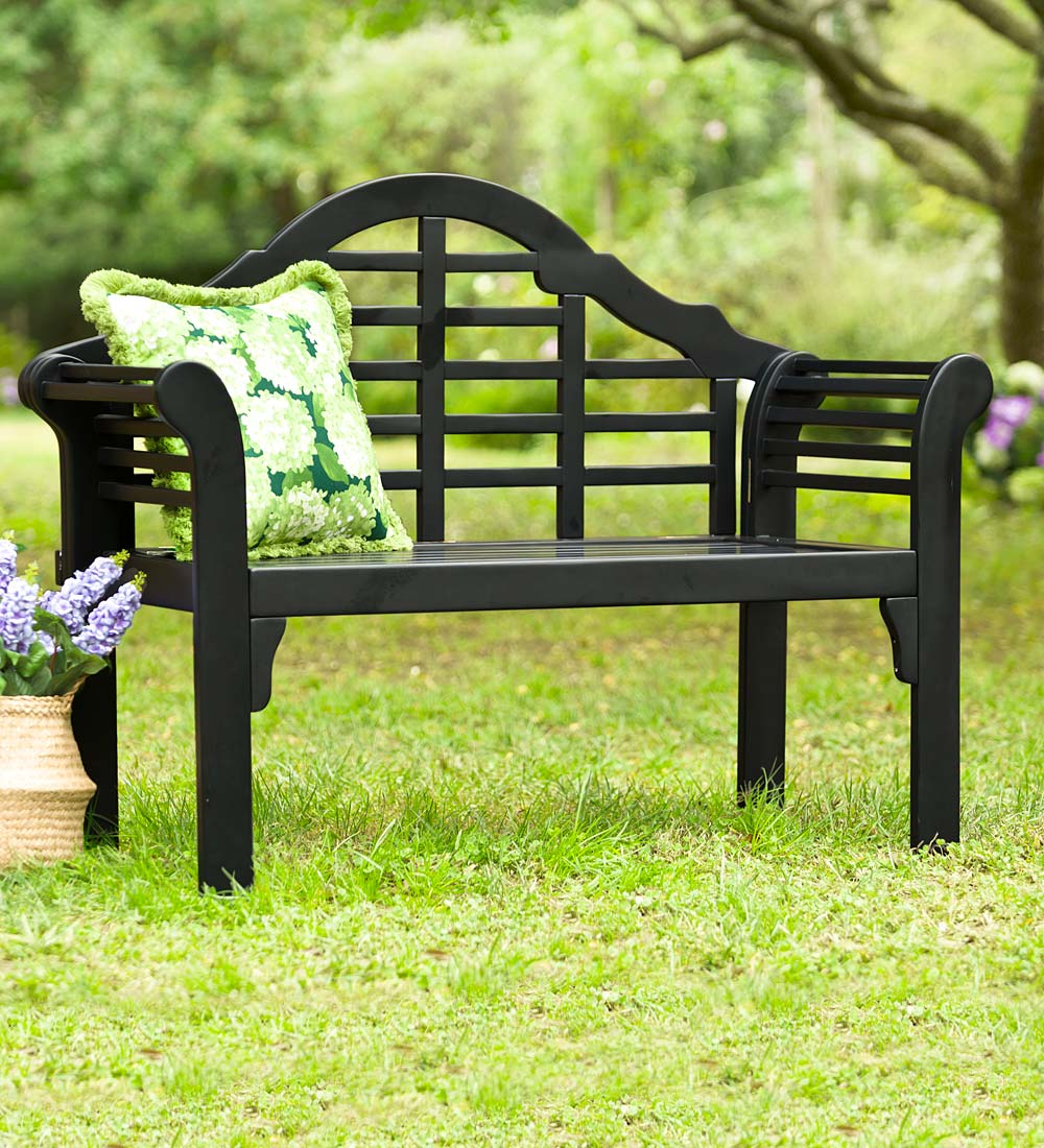 Lutyens Outdoor Garden Bench   Made With Eucalyptus Wood   Walmart.com