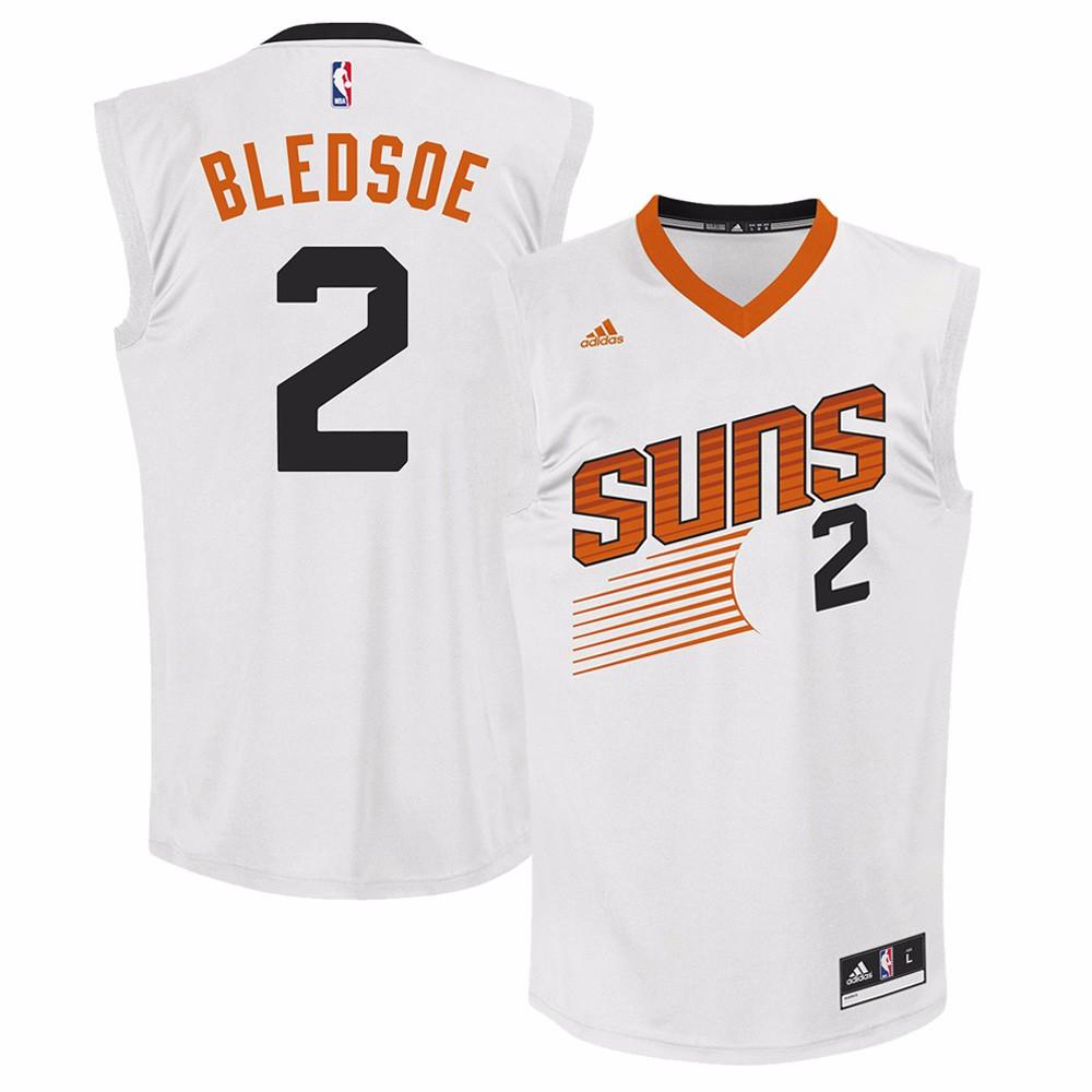 Eric Bledsoe  Phoenix Suns NBA Adidas Men's White Official Home Replica Jersey