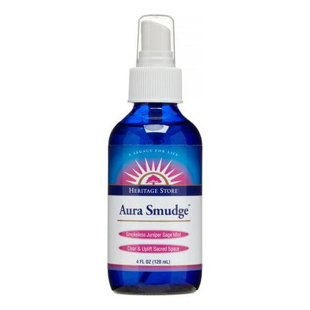 Heritage Store Aura Smudge Spray, Juniper Sage, 4 Oz