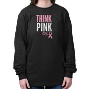 Breast Cancer Awareness Shirt | Think Pink Pray for Cure Hope Long Sleeve Tee