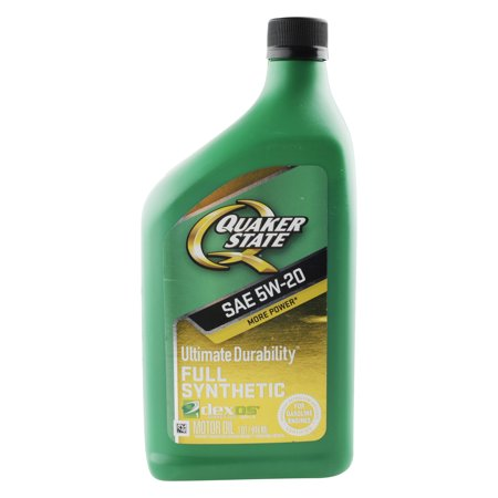 (6 Pack) Quaker State Ultimate Durability Full Synthetic Motor Oil, 5W20, 1