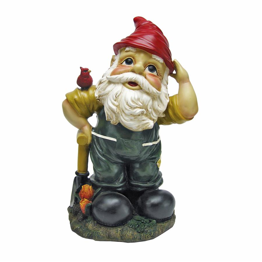 Dieter, the Digger Garden Gnome Statue by Design Toscano