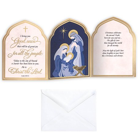Nativity Arches Christmas Card Set of 20 - Christmas Nativity