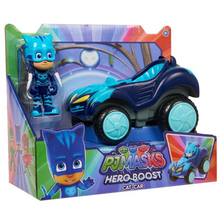 PJ Masks Hero Boost Vehicle - Cat-Car & Catboy Figure