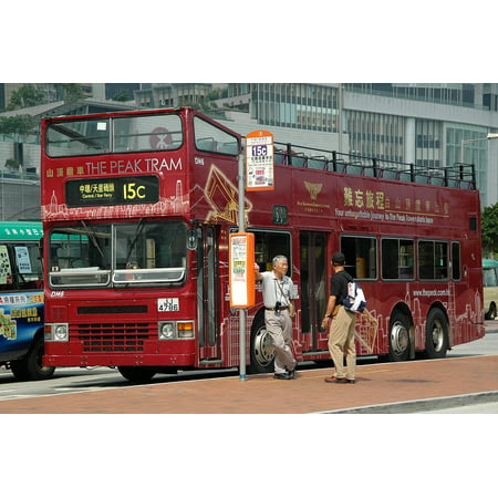 LAMINATED POSTER Hong Kong Imperial Bus China Stop Poster Print 24 x 36 ()