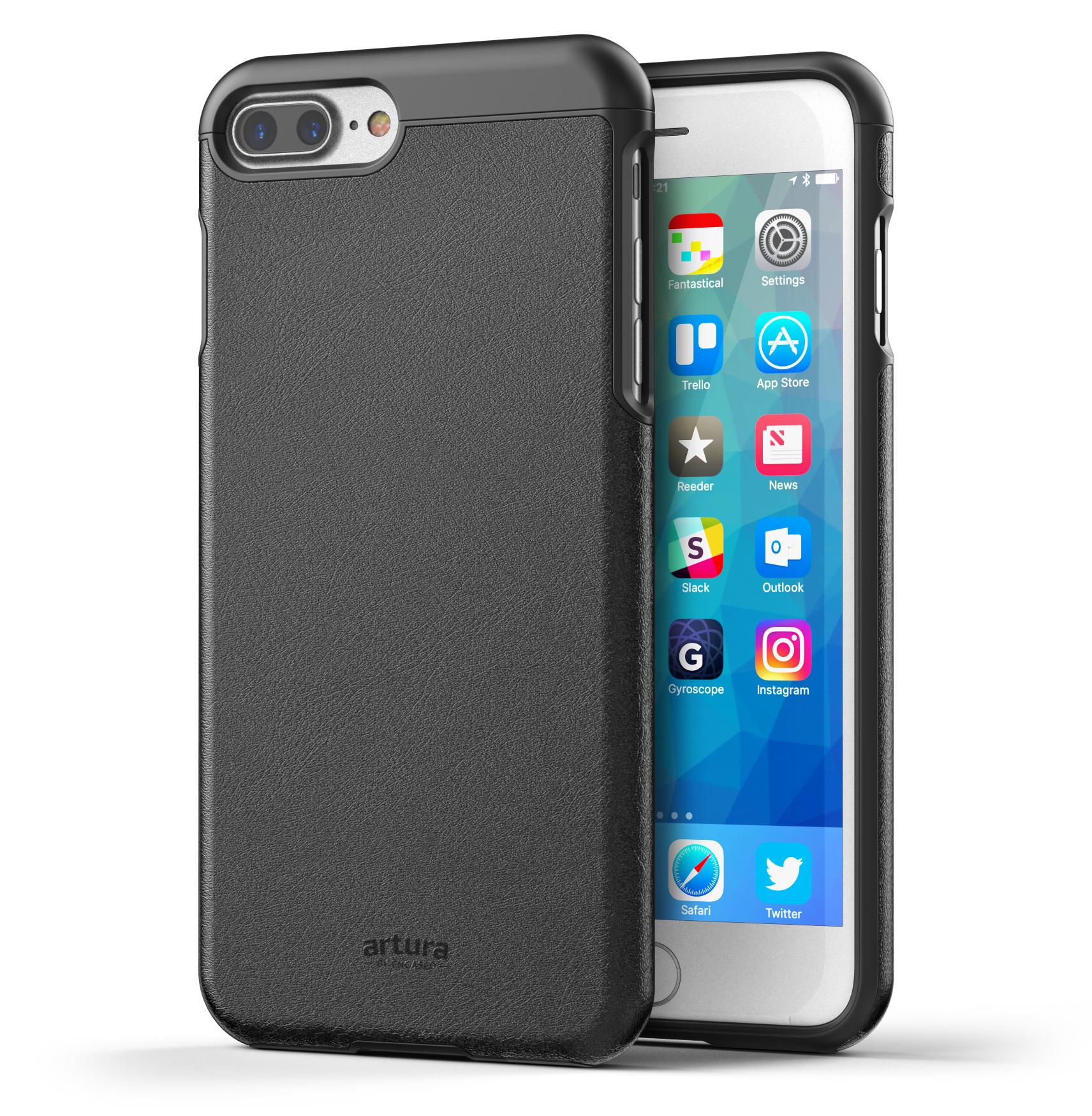 """iPhone 7 Plus (5.5"""") Premium Vegan Leather Case - Artura Collection By Encased"""