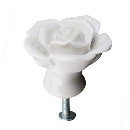 8pcs High End Elegant Fashion Rose Flower Ceramic Cabinet
