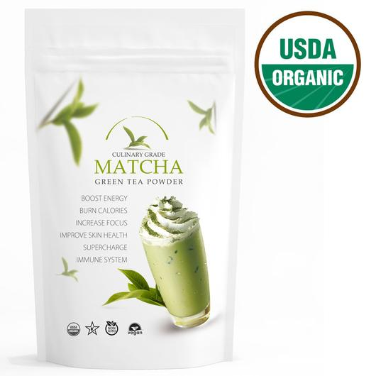 Traditional Matcha (16oz) USDA Organic, Kosher & Non-GMO Certified, Vegan and Gluten-Free. Pure Matcha Green Tea Powder.