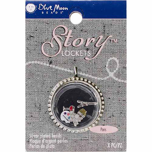 Blue Moon Story Lockets Metal Charm Assortment, 5pk