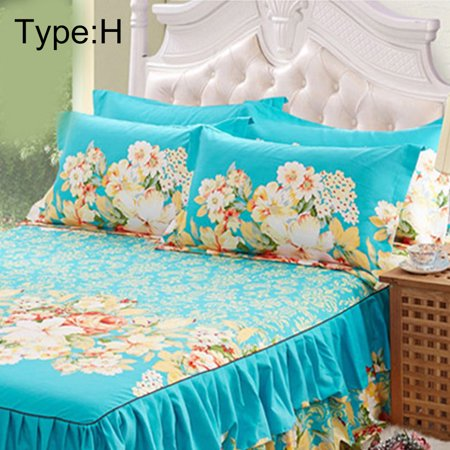 New Sanding Bedspread Queen Bed Skirt Thickened Fitted Sheet Single Double Bed Dust Ruffle