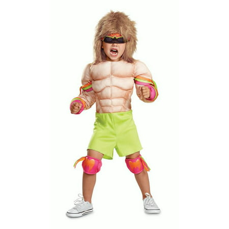 Disguise Ultimate Warrior Toddler Muscle Child Costume, Medium (3T-4T) - Halloween Ultimate