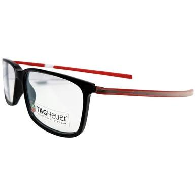 TAG Heuer 3451 Reflex Rectangle Prescription Rx Ready Eyeglasses Frames The TAG Heuer 3451 Reflex Eyeglasses is the perfect way to be stylish and keep your eyes relaxed. TAG Heuer is known not only for its watches but also for its designer eyeglasses. When youre always raising the standard of technology and performance you dont create designs that go unnoticed. As one of the worlds leading luxury accessory brands and premier brands of engineered craftsmanship, TAG Heuer is always pushing the boundaries of innovative performance technology. With a myriad of advanced features and materials, TAG Heuer Reflex glasses are made to do much more than stand the test of time. Using only the highest quality materials selected according to the strictest criteria, a rigorous selection process guarantees the robustness and reliability of each frame. The avant-garde materials used in TAG Heuer Reflex glasses provide unmatched ergonomics and comfort. Designed with a discreet hinge on the reflex fold for a clean, seamless design, the TAG Heuer 3451 Reflex Eyeglasses features a sleek, sophisticated design that boldly enhances the look and feel. The TAG Heuer Reflex 3451 Eyeglasses displays a modern rimless design and lightweight, anti-corrosive, stainless steel temples coated in elastomer ensuring a firm hold, the ultimate combination of lightweight and strength, of comfort and elegance. With the extensive use of titanium, elastomer, acetate and highly developed hinges and fixtures, TAG Heuer eyewear has an exceptional quality. Features:  Brand: TAG Heuer Collection: Reflex Model Number: 66345100254150 Style Number: 3451 Color Code: 002 Style: Full Rim Frames Color: Red / Black Frame Material: Elastomer Lens Width: 54mm Lens Height: 37mm Bridge Size: 15mm Temple Length: 142mm Made in France Includes box, case, cloth, paperwork, lens mold TAG Heuer 3451 Reflex MSRP: $499